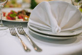 Forks and napkins — Stock Photo
