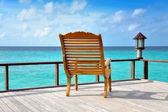 Chair with view over the ocean — Stock Photo