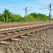 Stock Photo: Curved railroad