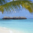Over water bungalows on maldives — Stock Photo #6952725