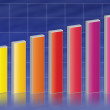 Colorful business graph chart illustration — Stock Photo #6964894