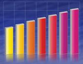 Colorful business graph chart illustration — Stock Photo