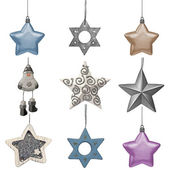Set of christmas ornaments isolated — Stock Photo
