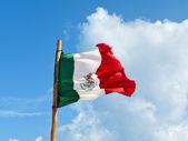 Mexican flag against blue sky — Stock Photo
