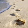Stock Photo: Footprints in sand