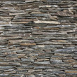 Slate Stone wall background, old facade — Stock Photo