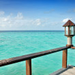 Balustrade with view over the ocean — Stock Photo