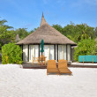 Holiday villa on the beach — Stock Photo