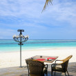 Stock Photo: Tropical restaurant on beach