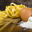 Stock Photo: Pastegg flour typical italian