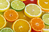 Orange,grapefruit and lemon — Stock Photo