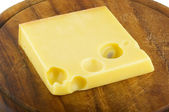 A piece of chesee Emmenthal — Stock Photo