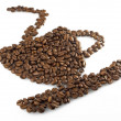 Cup of coffee made from beans — Stock Photo