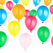 Colorful set of helium balloons — Stock Photo #7204186