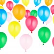 Stock Photo: Colorful set of helium balloons