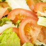 Greens salad and tomatoes — Stock Photo #7204338