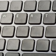 Keyboard wiyh only key qwerty — Stock Photo
