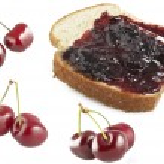 Cherry jam on the slice bread — Stock Photo #7205242