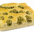 White pizza with olives — Stock Photo #7205526