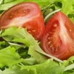 Greens salad and tomatoes — Stock Photo #7206472