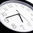 Black wall clock — Stock Photo #7206550