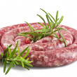Raw pork sausage  — Stock Photo