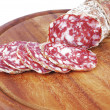 Royalty-Free Stock Photo: Salami sliced
