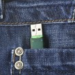 Usb key in the pant — Stock Photo