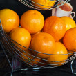 Basket of orange — Stock Photo
