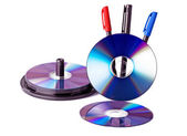 Dvd and pencil — Stock Photo