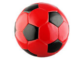 Leather soccer ball — Stock Photo
