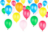 Colorful set of helium balloons — Stock Photo