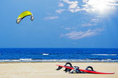 Kite surf on the beach — Stock Photo