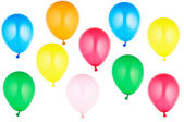 Colorful helium balloons — Stock Photo