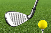 Photo of a golf iron club — Stock Photo