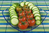 Tomatoes and Zucchini — Stock Photo