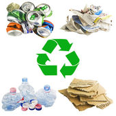Recycle concept collage — Foto de Stock