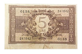 Old italian money lira — Stock Photo