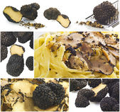 Truffles collage — Stock Photo