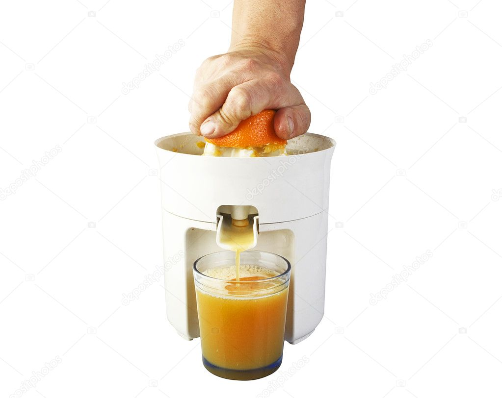 Fresh squeezed orange juice isolated on white — Stock Photo #7202759