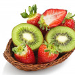 Kiwi and strawberry — Stock Photo #7216537