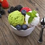 Fruit ice cream — Stock Photo