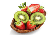 Kiwi and strawberry — Stock Photo