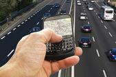Phone with GPS — Stock Photo