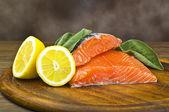 Salmon fillet — Stock Photo