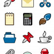 Office objects icon — Stock Vector