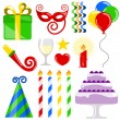 Birthday elements — Stock Vector