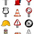 Stock Vector: Traffic icons