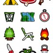 Stock Vector: Camping icons