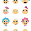 Royalty-Free Stock Vector Image: Baby faces